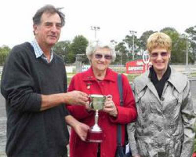 winners holding Trotters Cup