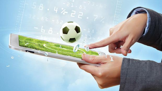 betting on soccer on tablet