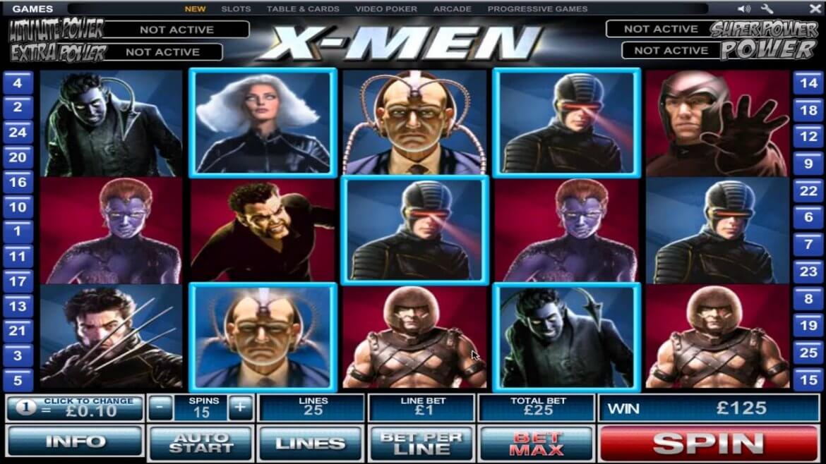 A Review & Guide to the X-Men Online Slots Game